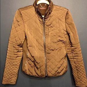 Zara quilted golden brown jacket